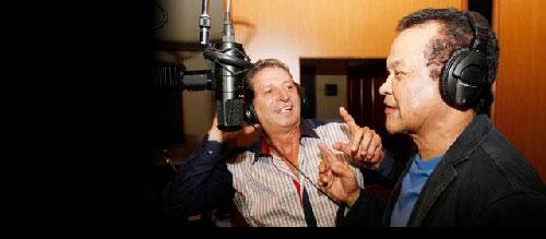 Dos glorias de la música vallenata y popular, Alfredo Gutiérrez y Darío Gómez, estrenan el video clip de la canción 'Un clavo saca otro clavo'.