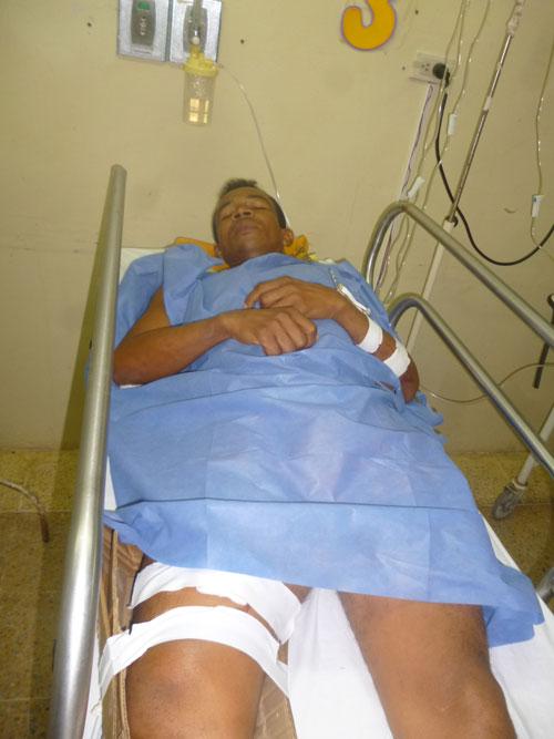 En el servicio de urgencias del hospital Rosario Pumarejo de López de Valledupar se recupera Onel Gutiérrez  Quintero, quien resultó herido en una riña el municipio de La Gloria, Cesar.