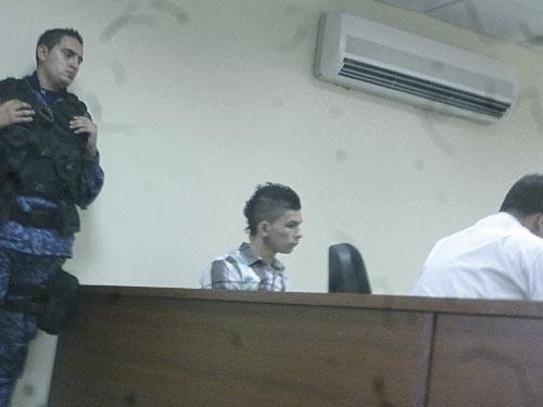 Sergio David Pitre Solano, en la audiencia preparatoria realizada en el Palacio de Justicia Valledupar.