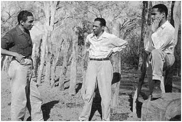 Rafael Escalona, Juan Muñoz y Manuel Zapata.