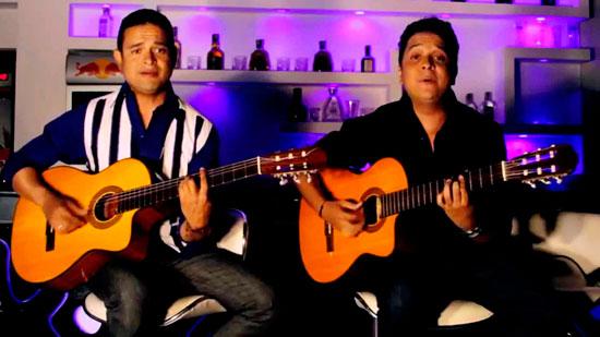 Los hermanos Carrillo, una agrupación de música vallenata en guitarra, conformada por Fredy Isacc y José Fernando Carrillo. Cortesía.
