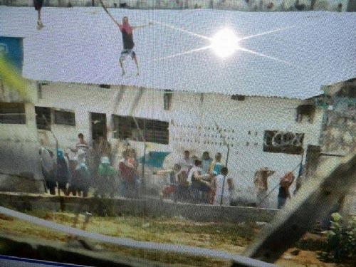Motín en la cárcel de Santa Marta.