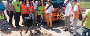 Integrantes de la Fundación Ciudad Humana y de la Alcaldía de Valledupar recorrieron puntos de la ciudad donde se instalarían estaciones de bicicletas públicas.