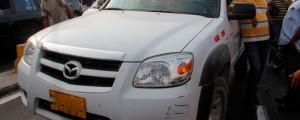 La camioneta afiliada a la empresa Electricaribe es de marca Mazda y fue hurtada en inmediaciones al corregimiento Río Seco, jurisdicción de Valledupar.