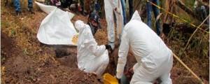 El CTI de la Fiscalía realizó la exhumación en la finca Casa de Zinc, en el corregimiento de La Majayura, en Maicao.