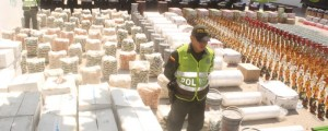 La mercancía incautada quedó a disposición de la autoridad competente. Foto: Cortesía.