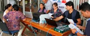 La Secretaría de Hacienda puso varios puntos de pago en la ciudad el viernes y el sábado.