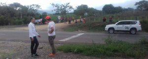 De manera pacífica campesinos del sur del Cesar apoyaron paro agrario. Foto: Cortesía.