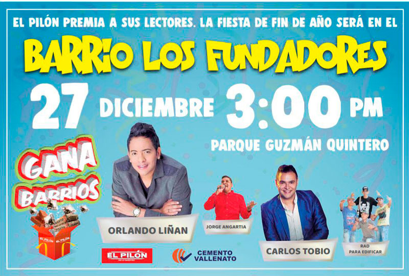 el evento comenzará a partir de las 3 de la tarde en el parque Guzmán Quintero.