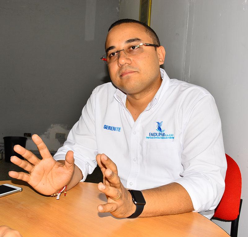 El gerente de Emdupar, José María Gutiérrez Baute, habló con EL PILÓN sobre el estado actual de la Empresa de Servicios Públicos de Acueducto y Alcantarillado de Valledupar. Joaquín Ramírez/EL PILÓN
