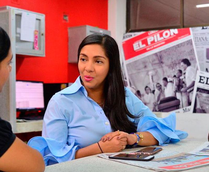 La primera gestora de Valledupar, Lisbeth Rosado Ahumada, promotora de la celebración del Día de la Mujer.