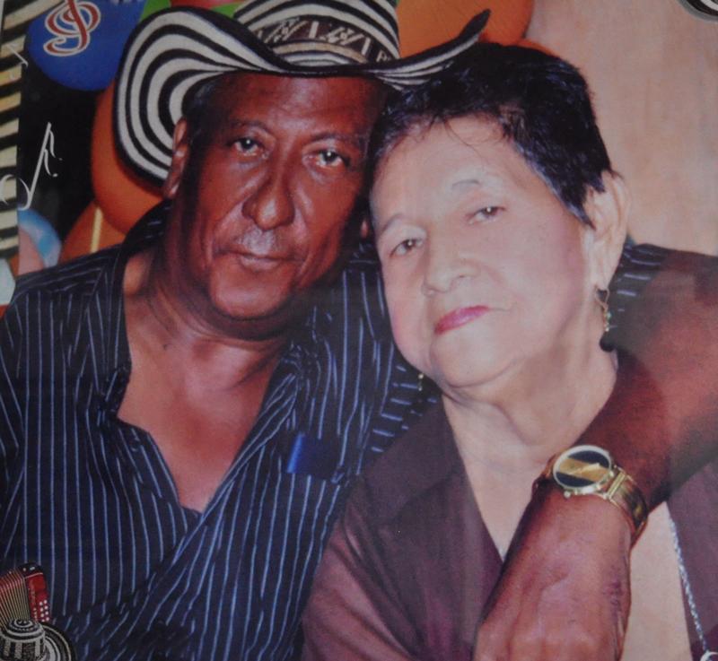 El rey vallenato Alberto Rada Ospino y su esposa María del Socorro Andrade. Cortesía.