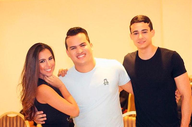 'Totó', 'Lily' Díaz y Carlos García.