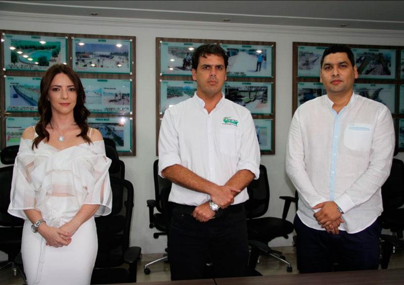 Lorena Hernández Dangond y Luis José Rodríguez se posesionaron ante el gobernador encargado, Carlos Eduardo Campo