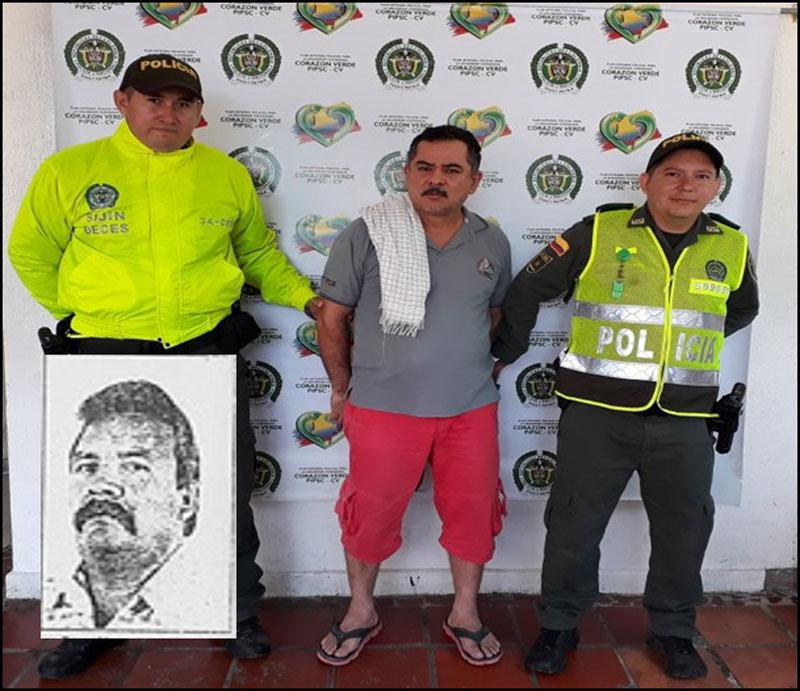 Alirio Páez capturado por las autoridades.