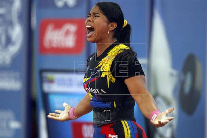 Leidy Solís le dio la cuarta medalla a Colombia en el Mundial de pesas.