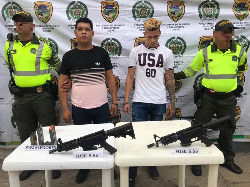 José Vicente Gómez y Pedro Acosta Ovalle cuando fueron detenidos.  FOTO/CORTESÍA.