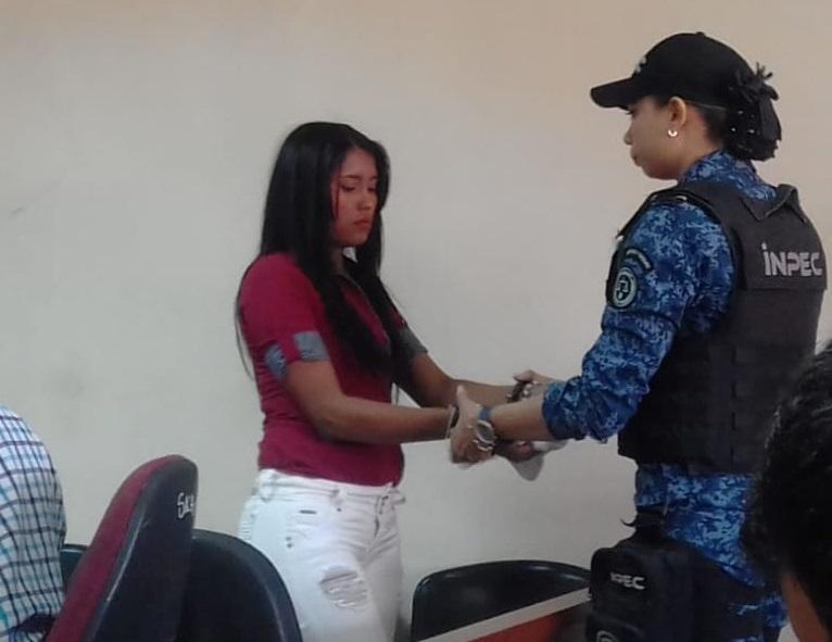 Osneidi Yurani Navarro Amaya en audiencia.   Foto: Judicial.