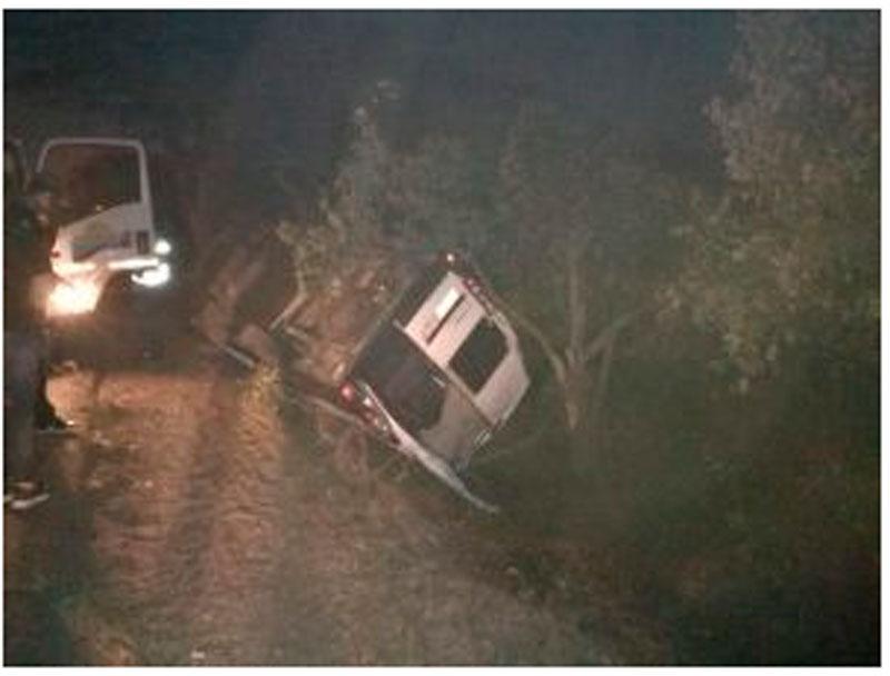 Así quedó el vehículo accidentado.