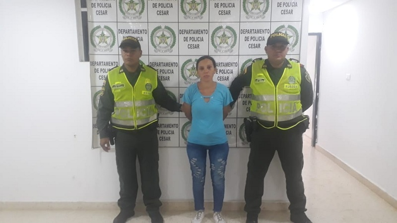 Luz Estela León Rodríguez fue detenida por las autoridades el mismo día de los hechos.   Cortesía/Policía Nacional.