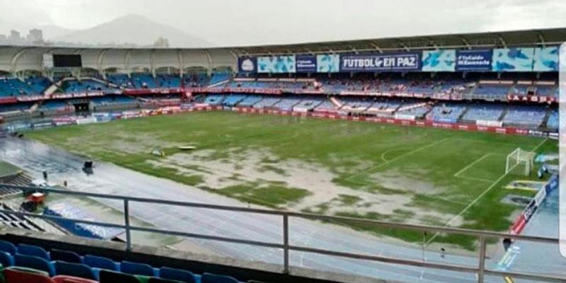 El estadio Olímpico Pascual Guerrero se vio impotente contra la naturaleza.