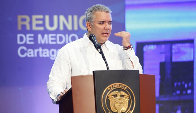 Iván Duque Márquez, presidente de Colombia.   Foto: Cortesía.
