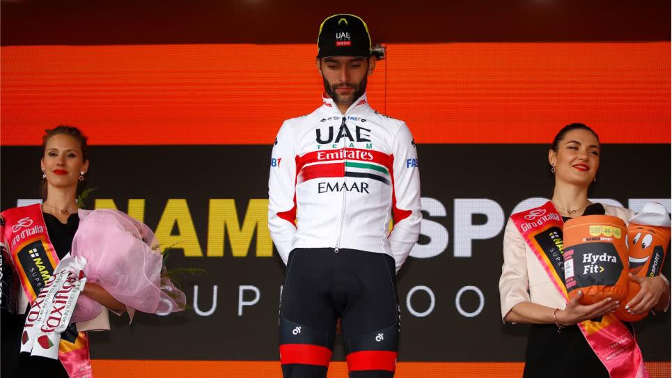 Sexta victoria para el embalador colombiano en sus participaciones en el Giro de Italia, siendo uno de los ciclistas en su condición más exitosos de la 'Carrera Rosa'.  CORTESÍA.