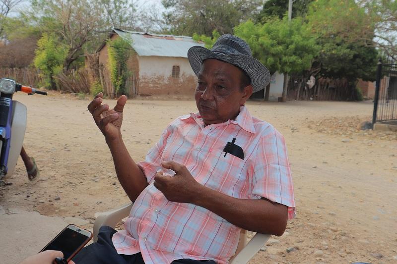 David Romero, líder de la comunidad de Guacochito y quien tuvo que huir por el impacto de la violencia.   Foto: Giovani Sierra