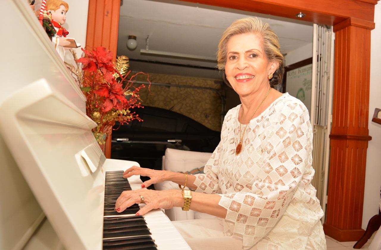 Compositora de la música vallenata, Rita Fernández Padilla.    Foto: Archivo.