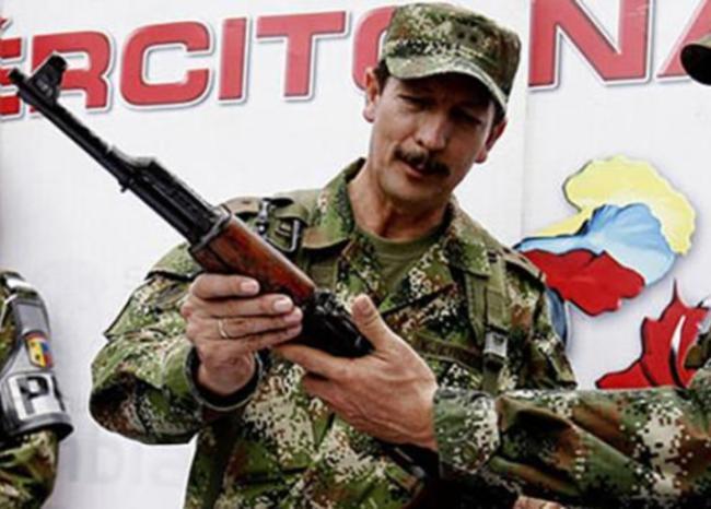 El general Nicacio Martínez, quien estuvo en la comandancia de la Décima Brigada en 2005.   REFERENCIA