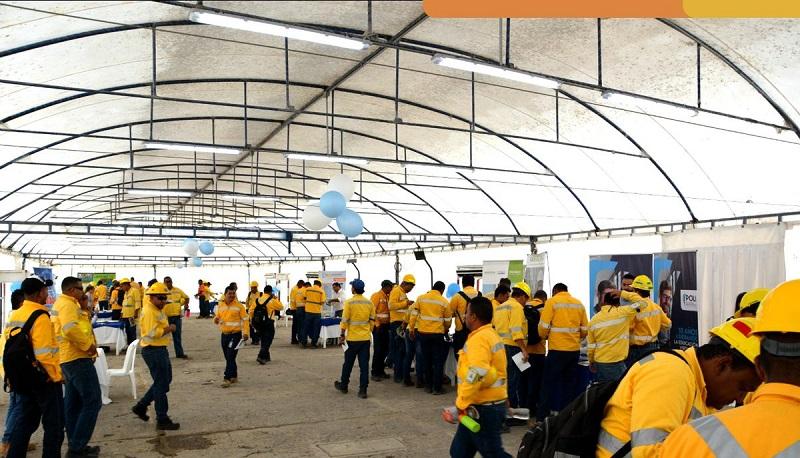 Alrededor de 7.500 empleados se encuentran trabajando directamente con el Grupos Prodeco en el Cesar.    FOTO: CORTESÍA