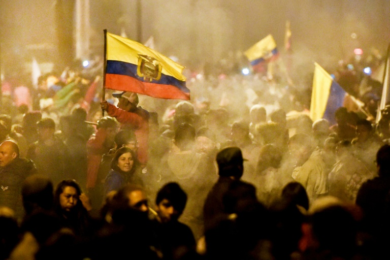 Las protestas duraron 12 días tras el anuncio del Gobierno ecuatoriano de la eliminación del subsidio de combustible.   FOTO: CORTESÍA AFP.