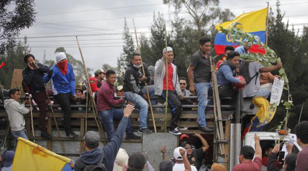 Ecuador completa 11 días en crisis tras el anuncio del Gobierno de la eliminación del subsidio de combustible en el país. Foto: Cortesía El Comercio.