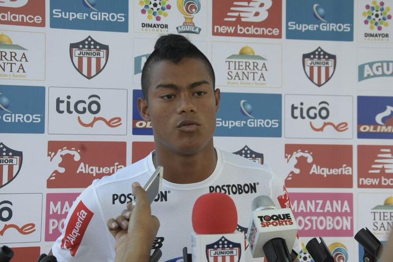 """En rueda de prensa, el delantero Luis Sandoval indicó que """"Junior merece estár más allá de un sexto lugar en la tabla"""".   FOTO: CORTESÍA."""