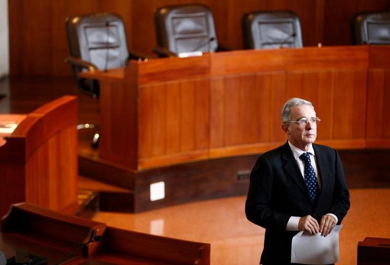 Álvaro Uribe Vélez en la Corte Suprema de Justicia.
