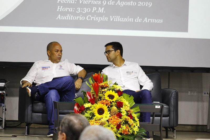 Ernesto Orozco y Mello Castro durante un foro en Fenalco.   FOTO/ JOAQUÍN RAMÍREZ
