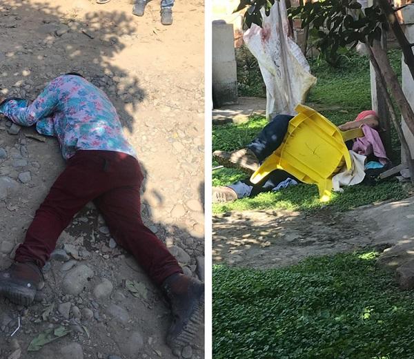 Así quedaron los cadáveres de las víctimas.   FOTO/ CORTESÍA