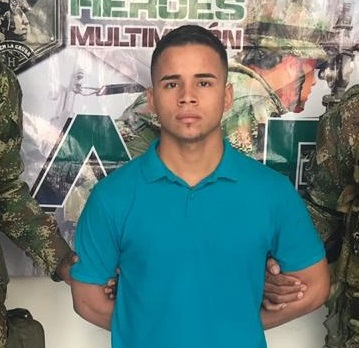 Luis Santos cuando fue capturado.