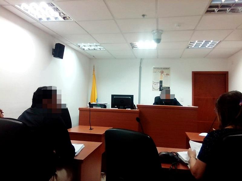 La diligencia se realizó ante el Juzgado Cuarto Penal del Circuito de Conocimiento.