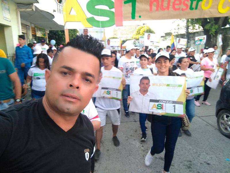 Jaime Gaibao y Wilson Barbosa, candidatos al Concejo de San Alberto.