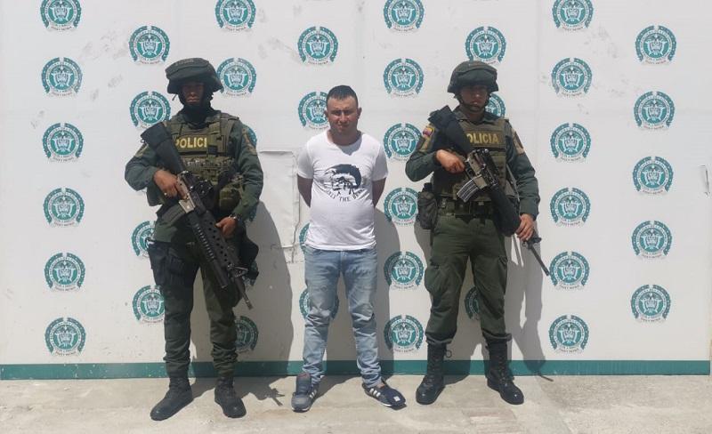 Wilson Pacheco Collantes capturado.   FOTO/JUDICIAL.