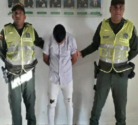 Jainer Rocha Amarís, capturado.