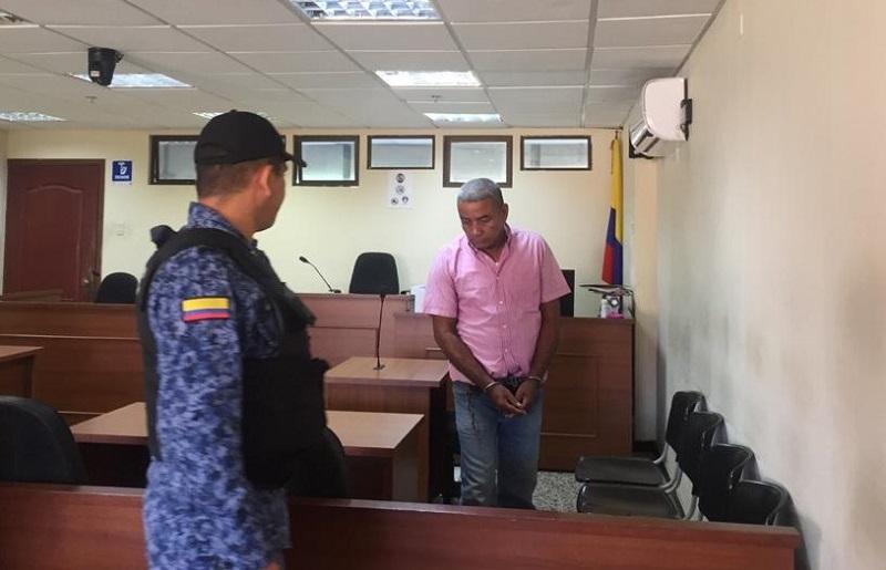 Rufino Aguilar asistió a la audiencia en el Palacio de Justicia.   FOTO/CORTESÍA.