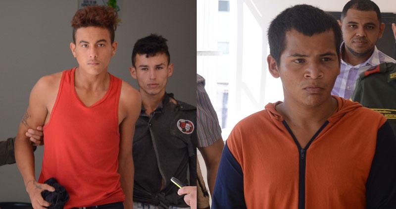 Jhonatan Ortiz Torres, alias Bruja, Carlos Mario Marín Álzate y Jeremías Rangel Mora, los presuntos asaltantes.