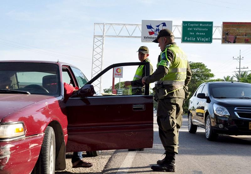 El Ejército y la Policía estuvieron en las vías haciendo campañas de prevención.