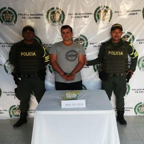 Alex David Sánchez, detenido por porte de estupefaciente.