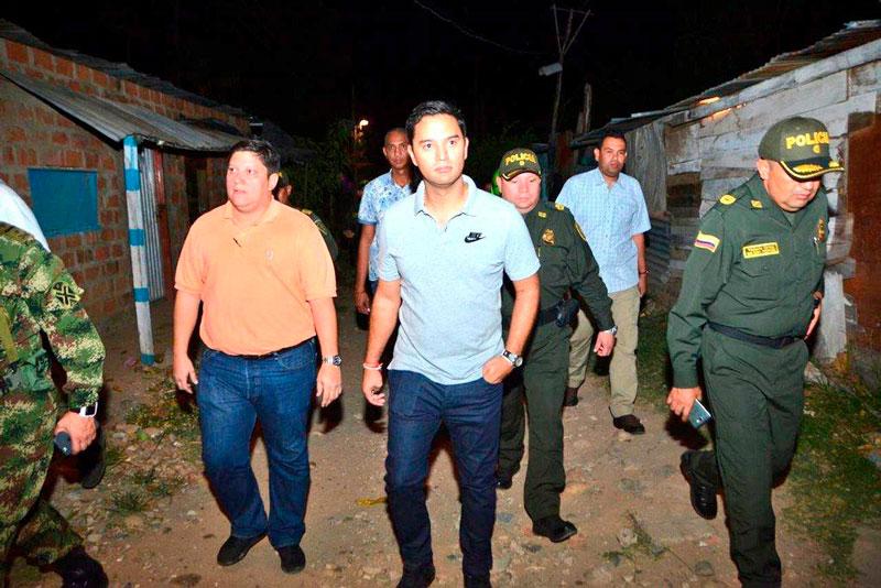 En la visita hizo presencia la Policía, Secretaría de Gobierno y Alcaldía de Valledupar.