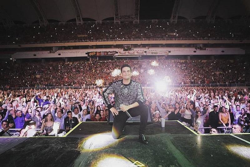 Silvestre Dangond durante el concierto en San Cristóbal, Venezuela.   FOTO/INSTAGRAM SILVESTRE DANGOND.