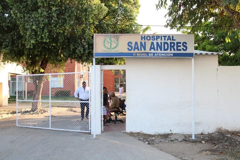 Hospital San Andrés de Chiriguaná.   FOTO/CORTESÍA.