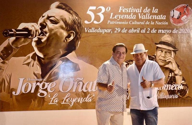 Jorge Oñate y Rosendo Romero eran los homenajeados de la versión 53°  del Festival de la Leyenda Vallenata.   Foto: Cortesía.